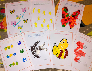 Worksheets about spring for kids 2-3 years old.