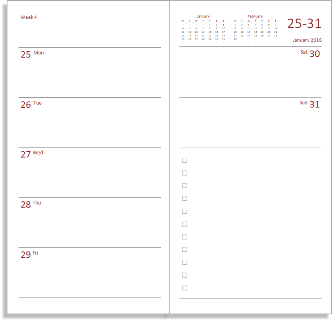 picture regarding Planner Inserts Free titled Absolutely free 2016 planner inserts for the - My Everyday living All within just One particular House