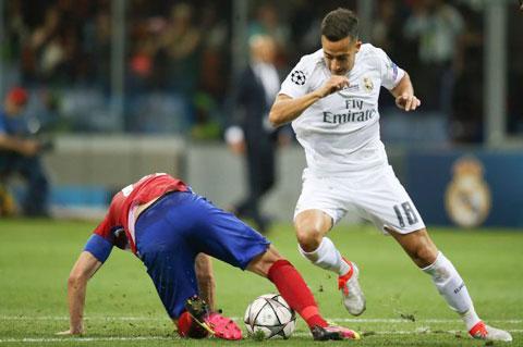 Lucas Vazquez trong màu áo Real Madrid