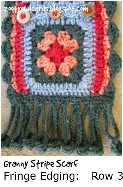granny stripe scarf