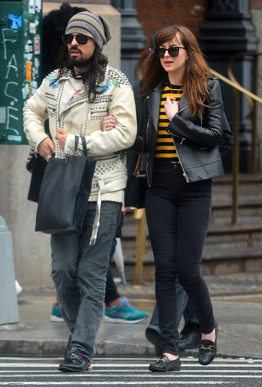 c1ae8ab3c16 New HQ s of Dakota out with Matt and Alessandro Michele in NYC (May 1st)