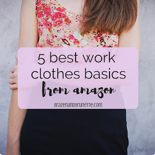 Summer internships are coming up, so here's 5 cheap work clothes option to help make it easier when you have to take an unpaid internship. where to find cheap work clothes. amazon business casual clothes. amazon business professional clothes. what to buy for a work capsule wardrobe. law school blog. law student blogger | brazenandbrunette.com