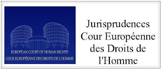 Jurisprudences Cour Européenne