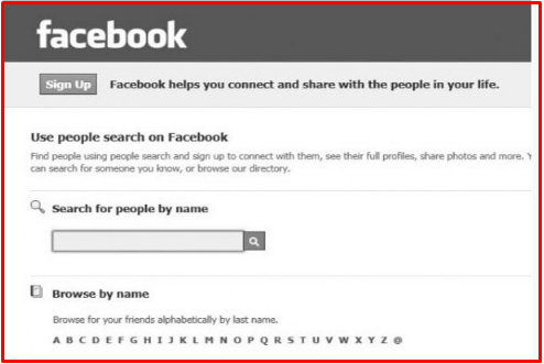 Search Facebook Profiles Without Logging
