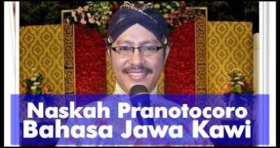 Contoh Naskah Pranotocoro Bahasa Jawa Kawi Manten