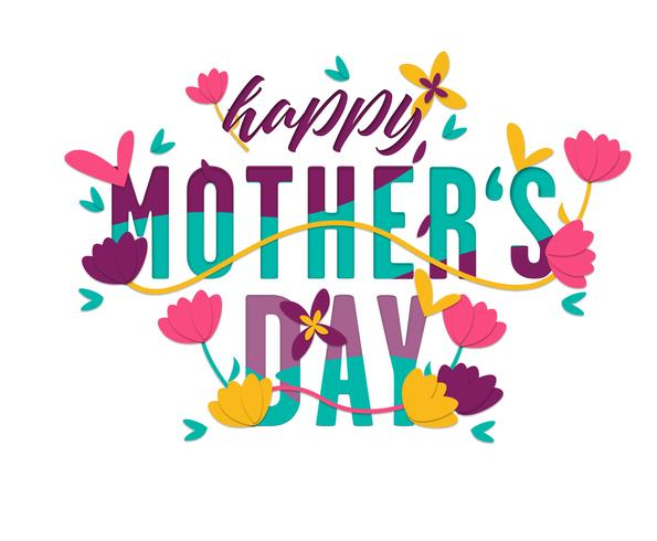 Mothers Day Card Free Vector