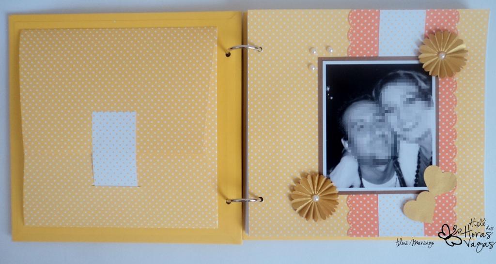 livro de mensagens personalizado casamento amarelo laranja dourado casal foto