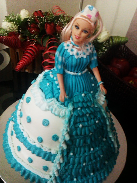 Turquoise Barbie House: AniesBakeHouse: Barbie Doll Cake In Turquoise Blue
