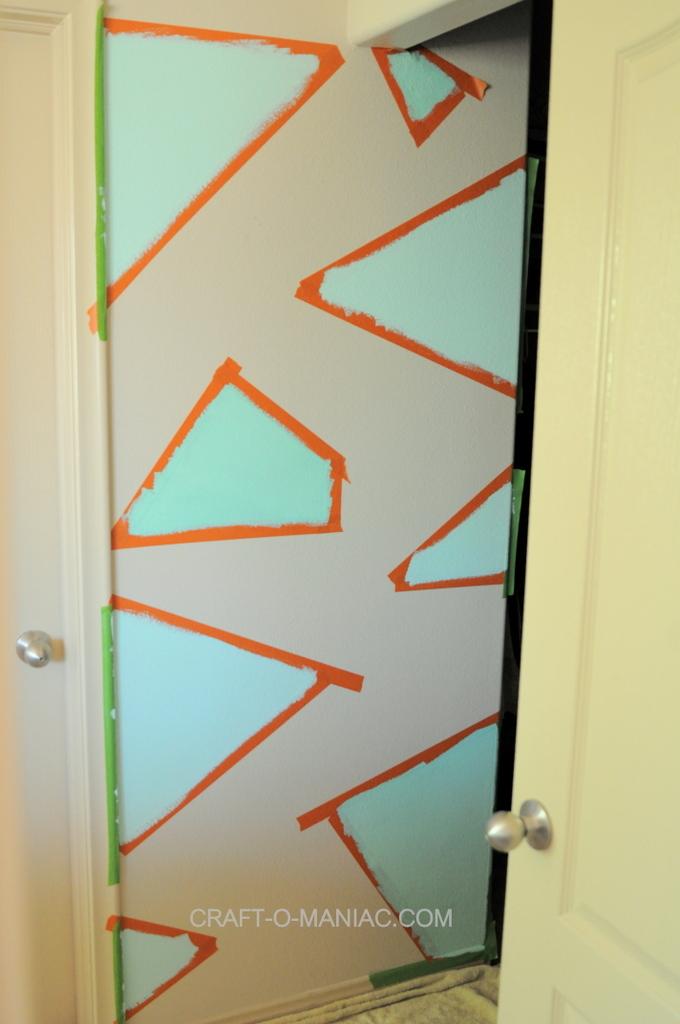 Diy Painted Geometric Accessory Wall