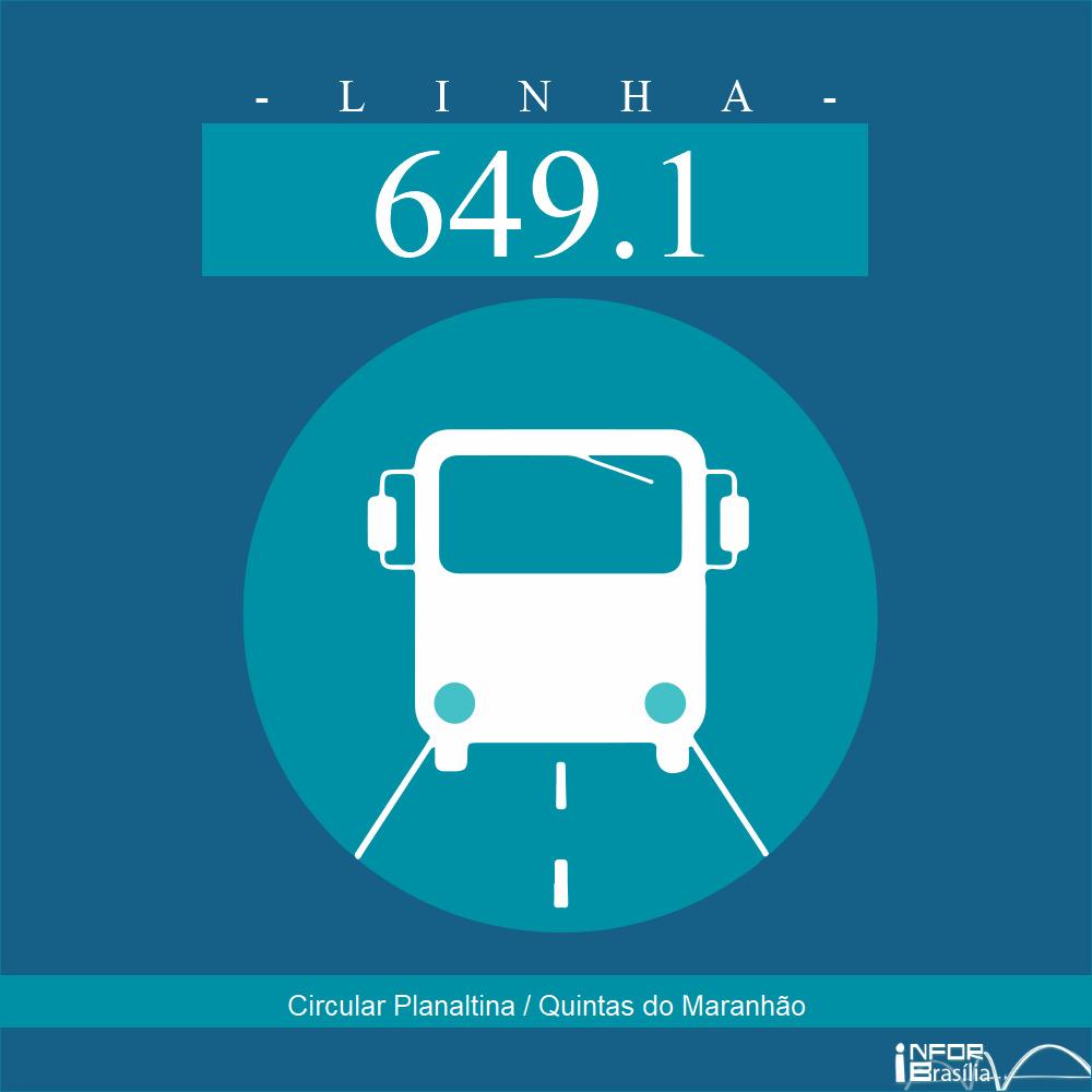 Horário de ônibus e itinerário 649.1 - Circular Planaltina / Quintas do Maranhão