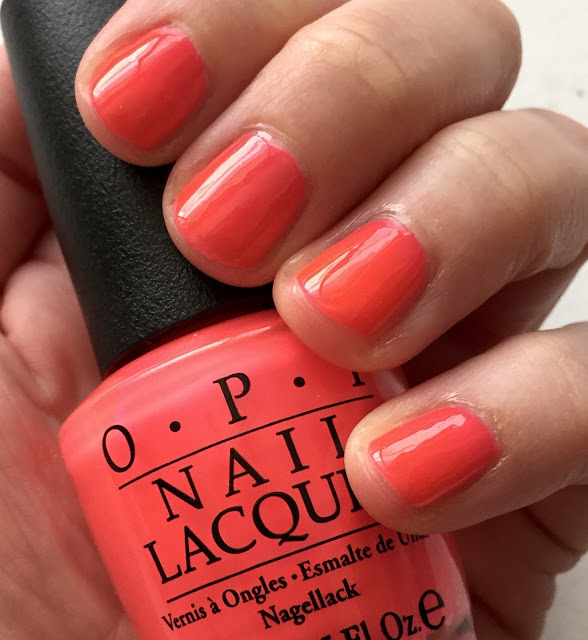 Throwback Thursday, #tbt, manicure, nails, nail polish, nail lacquer, nail varnish, OPI No Doubt About It, OPI Summer 2016 Neons Collection