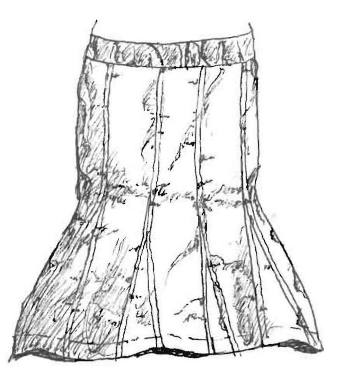 Shape of a Spoon: sculpted skirt pattern