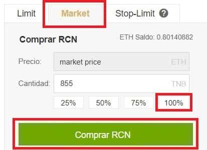 Ripio Credit Network (RCN) Criptomoneda Comprar Guía Fácil
