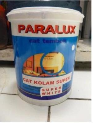 Cat Kolam Super Warna Putih Merk Paralux