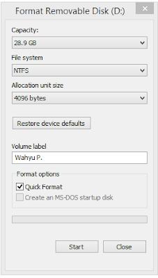 cara format flashdisk di laptop