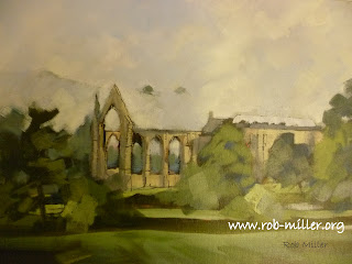 Painting of Wharfedales Bolton Abbey