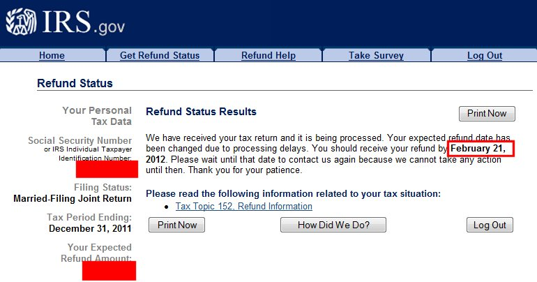 how to check if tax return has been processed