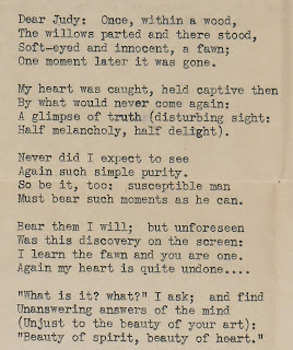 A typed letter in verse.