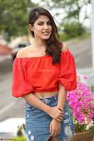 Rhea Chakraborty in Red Crop Top and Denim Shorts Spicy Pics ~  Exclusive 100.JPG
