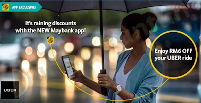 Maybank Mobile App Free Uber Promo Code Malaysia Ride Discount Offer