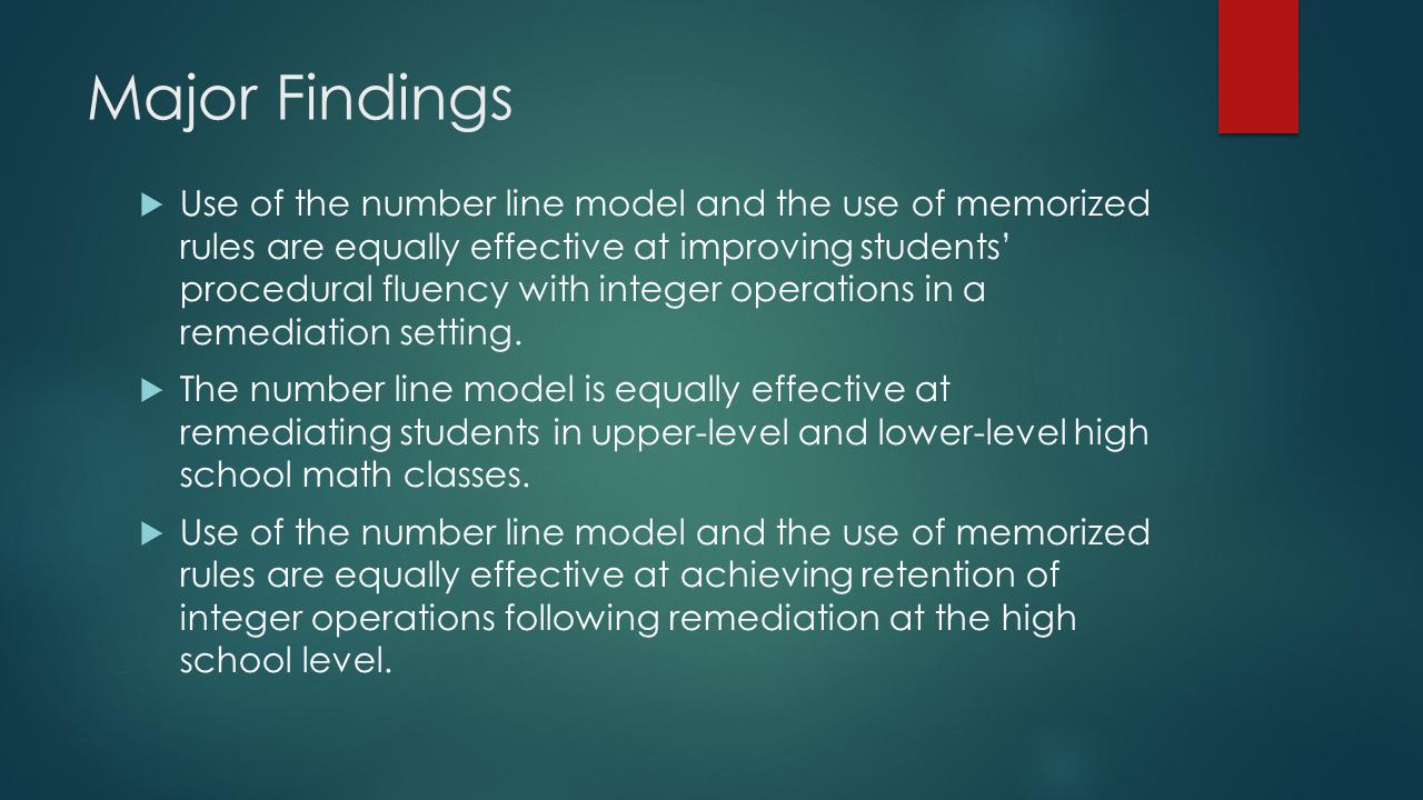 Math = Love: Master\'s Graduation and Remediating Integer Operations ...
