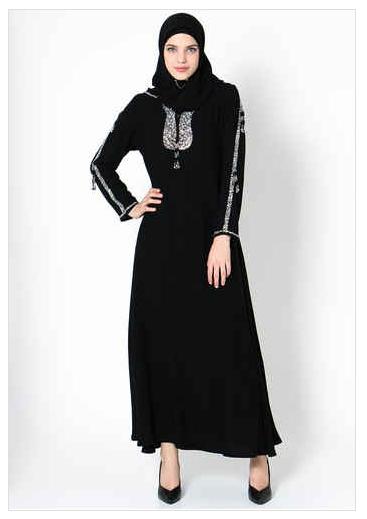 Contoh Model Baju Muslim Abaya Renda Terbaru 2016 Thaisarantesglencoe