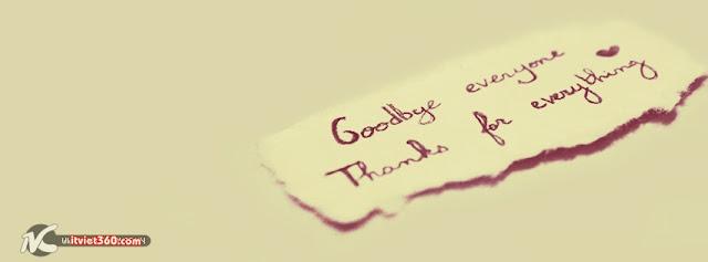 ảnh bìa Facebook đẹp nhất, cover FB goodbye