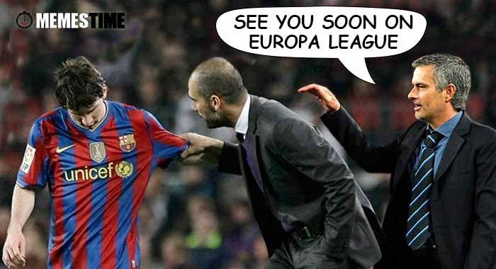 GIF Memes Time… da bola que rola e faz rir - Will José Mourinho and Pep Guardiola meet on Europa League? - See you soon on Europa League