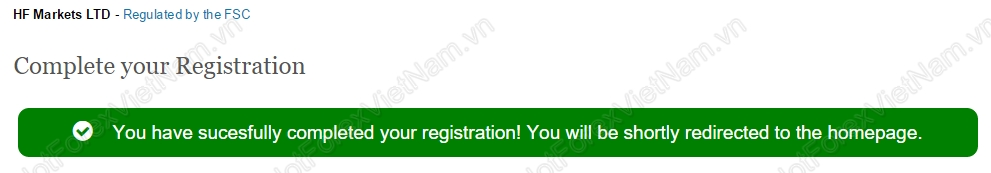 Registration HotForex