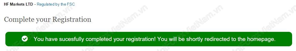 Registration HotForex