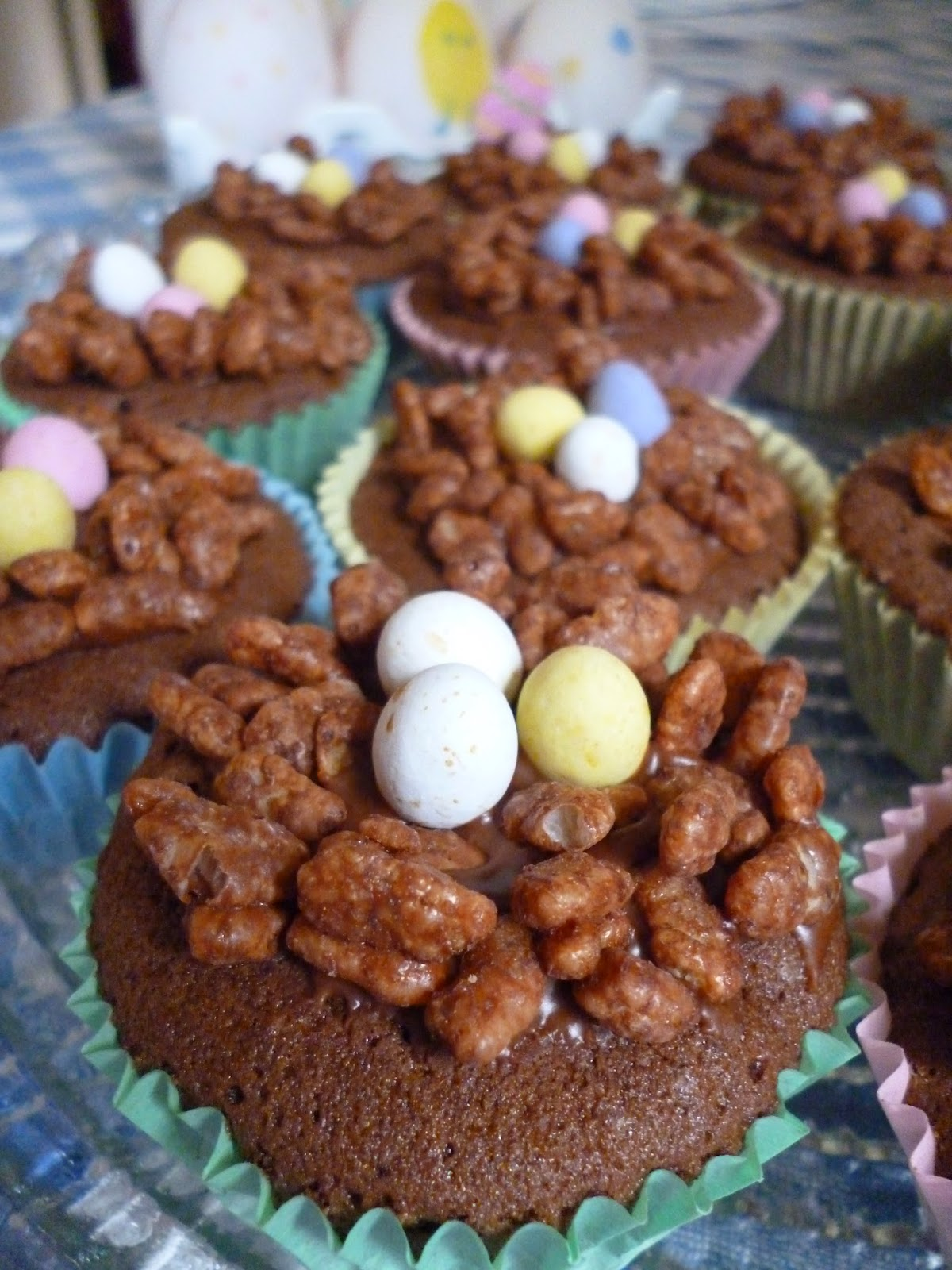 Easter Chocolate Nests Rice Krispies Cakes