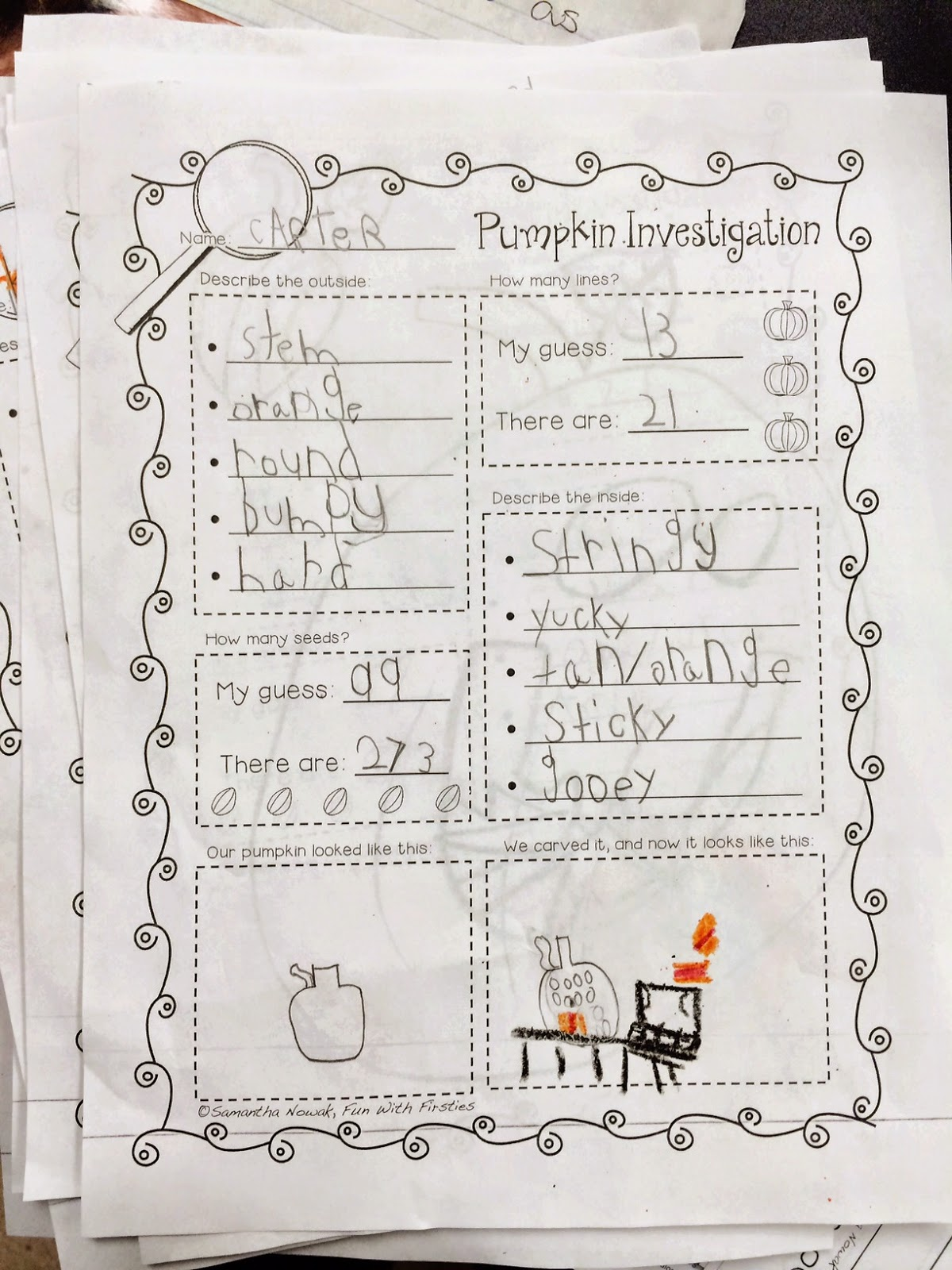 Fun With Firsties Happy Halloween