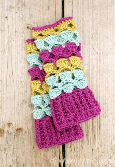 Polswarmers Haken Patroon Wristwarmers Crochetpattern Bees