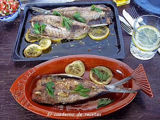 Sardinas asadas al horno & Picadillo