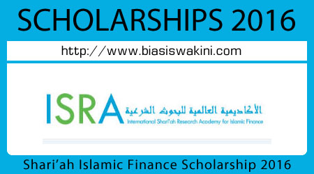 ISRA Full Scholarship 2016