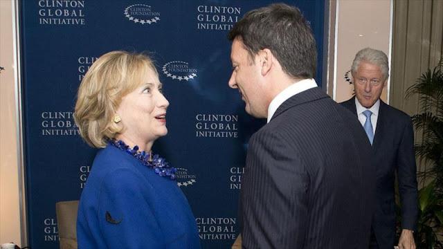 Senador italiano: Gobierno de Renzi financia campaña de Clinton