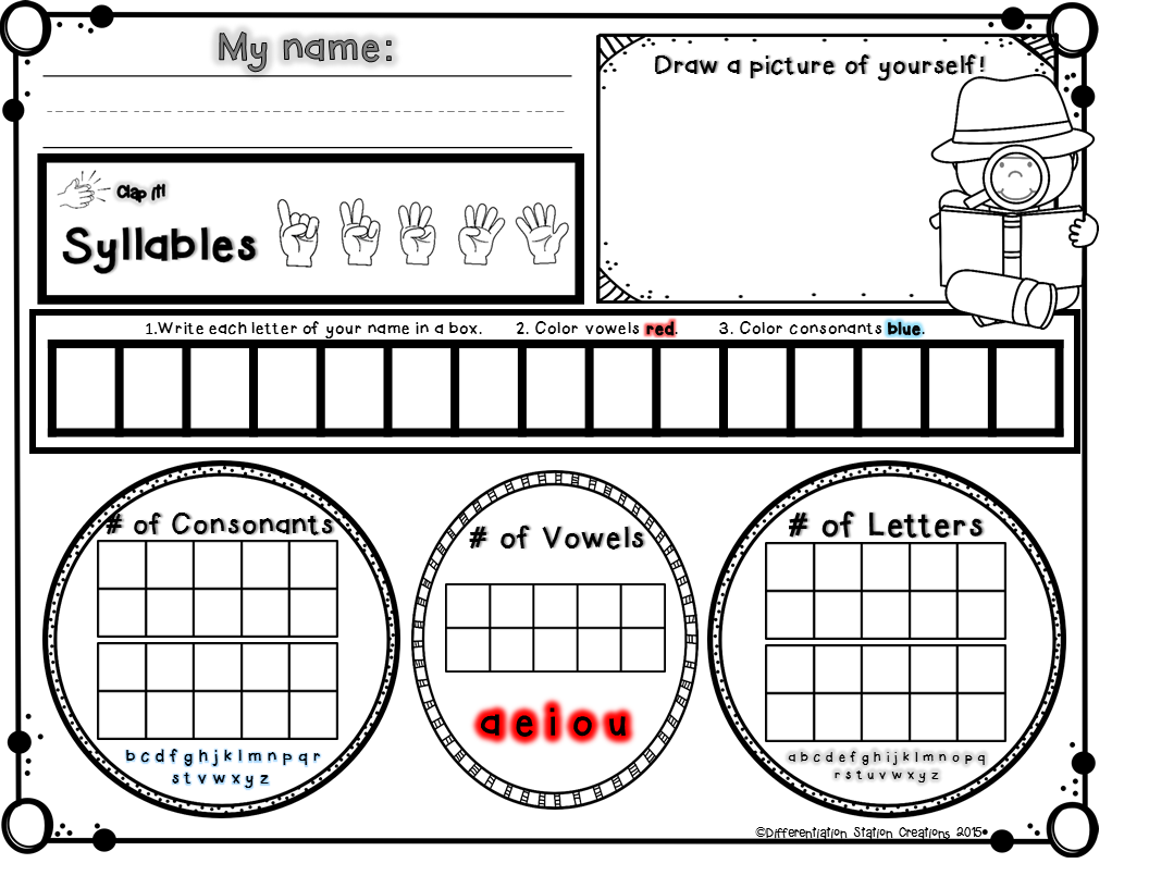 Differentiation Station Creations All In A Name Freebies