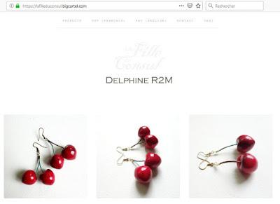 Le temps des cerises: Boucles d'oreilles La Fille du Consul dans la boutique en ligne