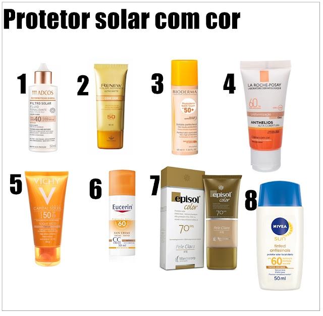 Protetor Solar com cor qual o melhor