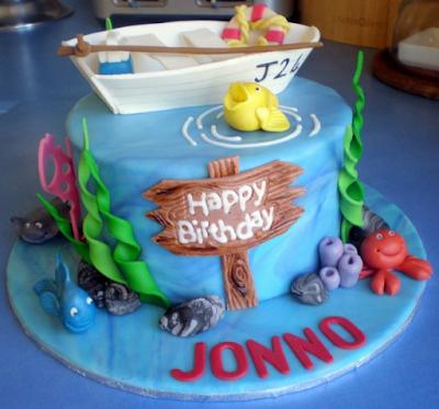 fishing birthday cakes for boys