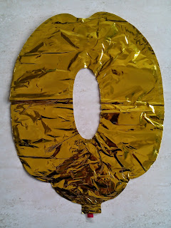 Balon Foil Angka 0 Warna Gold
