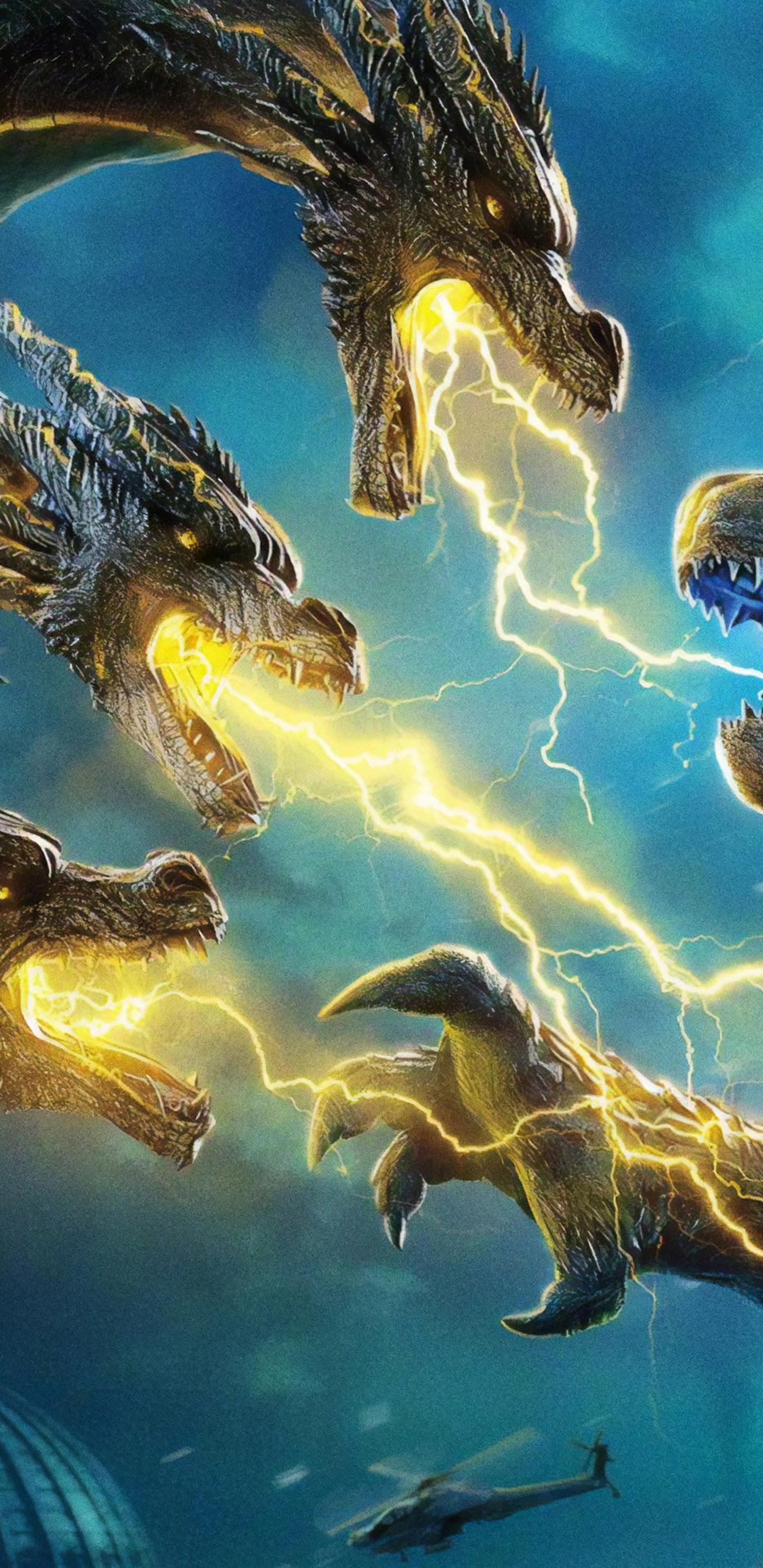 Godzilla Vs King Ghidorah King Of The Monsters 4k Wallpaper 11