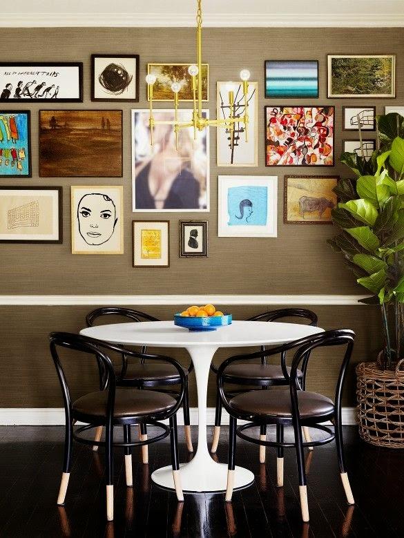 KP decor studio Decorar con mesa Tulip y sillas Thonet
