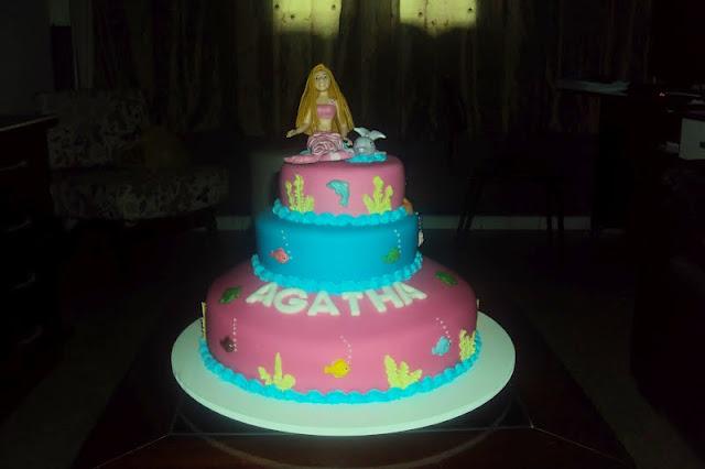 Bolo festa Barbie Sereia