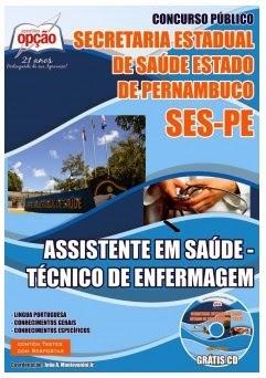 Apostila Concurso SES - Secretaria de Saúde de Pernambuco -  Assistente em Saúde