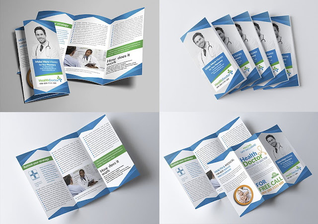 The design of open psd brochures is ready for adjustable medical design