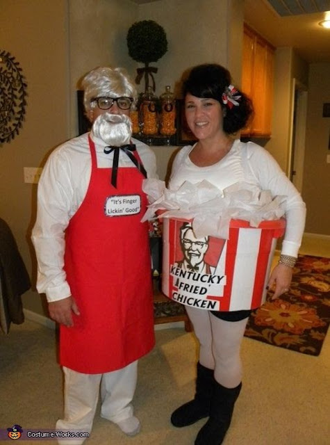 Colonel Sanders and Fried Chicken Halloween