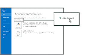 How to configure outlook email account