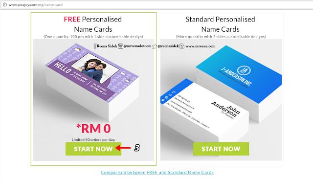 Name Card Percuma Dari Pixajoy