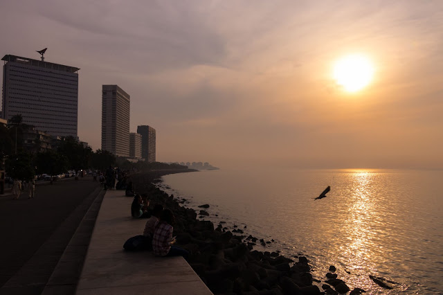 Sunset At Nariman Point, Casual Abstractions, Mumbai, Churchgate